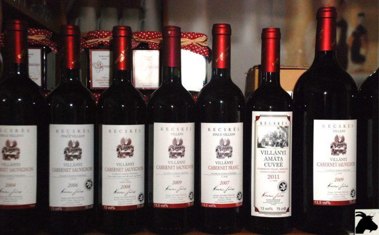 Villány Kecskés borok szortiment